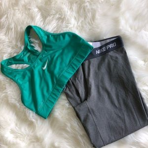 Gray Nike Dry Fir Capri Leggings